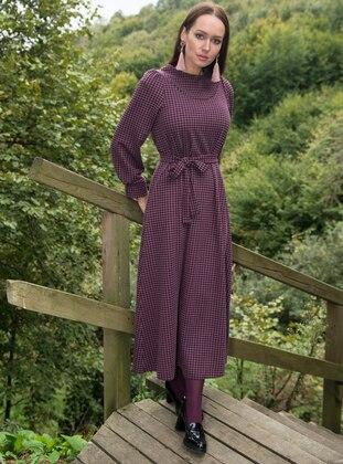 Plum - Houndstooth - Dresses