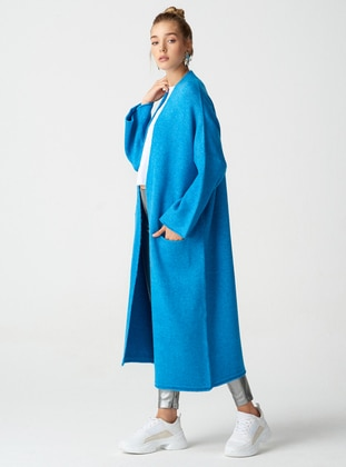 Blue -  - Cardigan - Dilvin