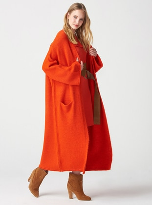 Orange -  - Cardigan - Dilvin