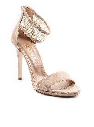 Topuklu Ayakkabı - Bej Süet - Sapin Ürün Resmi