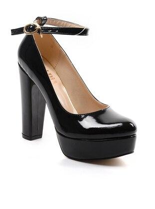 Topuklu Ayakkabı - Siyah Rugan - Sapin Ürün Resmi
