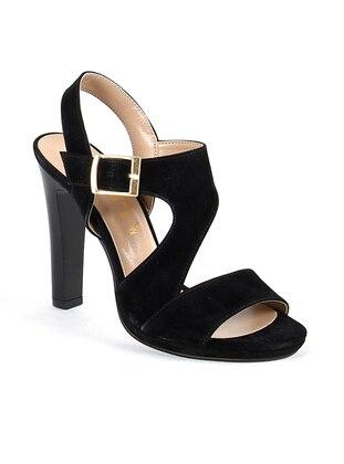 Topuklu Ayakkabı - Siyah Süet - Sapin Ürün Resmi