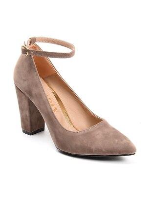 Topuklu Ayakkabı - Vizon Süet - Sapin Ürün Resmi