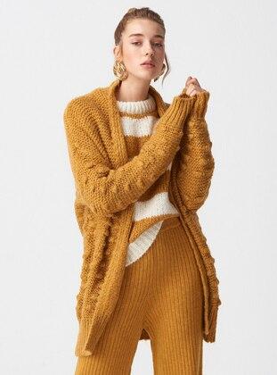 Mustard -  - Cardigan - Dilvin