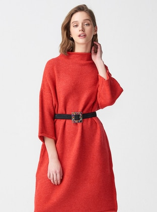 Coral - Polo neck - Unlined -  - Dresses