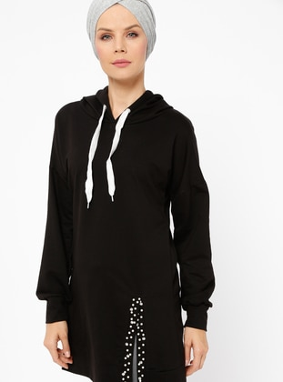 Black - Viscose - Tunic