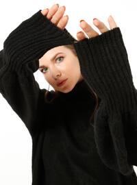 Black - Polo neck - Acrylic -  - Tunic