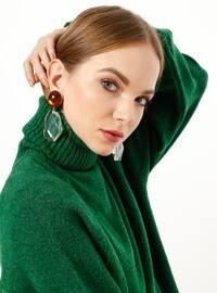 Green - Polo neck - Acrylic -  - Tunic