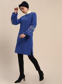Saxe - Crew neck - Cotton - Tunic