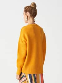 Orange - Crew neck -  - Jumper