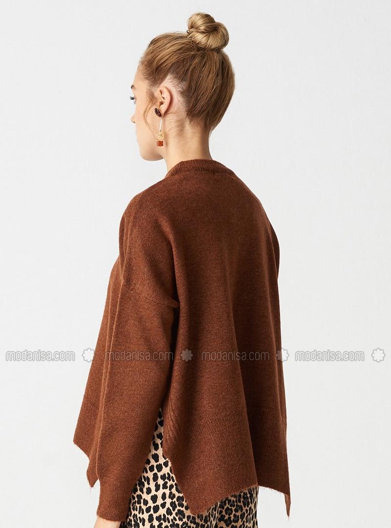 Großhändler günstig kaufen tolle sorten Braun - Rollkragen - - Pullover