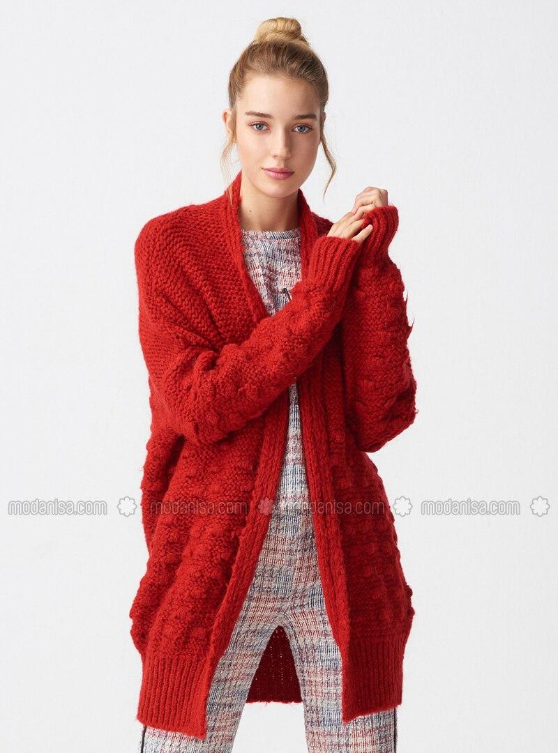 06c69af187f Red - - Cardigan. Fotoğrafı büyütmek için tıklayın