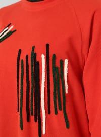 Coral - Stripe - Crew neck - Tunic