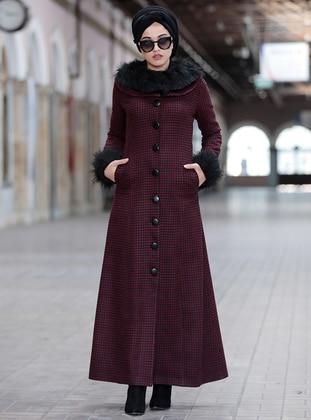 Maroon - Multi - Fully Lined - Coat