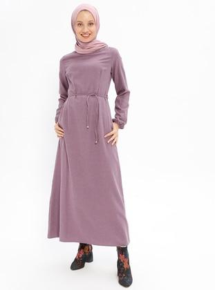Düz Renk Elbise - Lila - Beha Tesettür Ürün Resmi