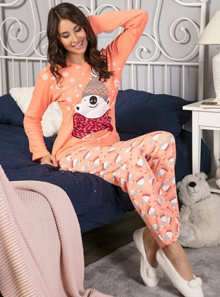 Salmon - Crew neck - Multi - Pyjama