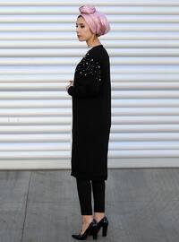 Black - Acrylic - Cardigan