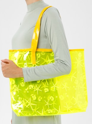 Yellow - Beach Bags - İdil Çanta