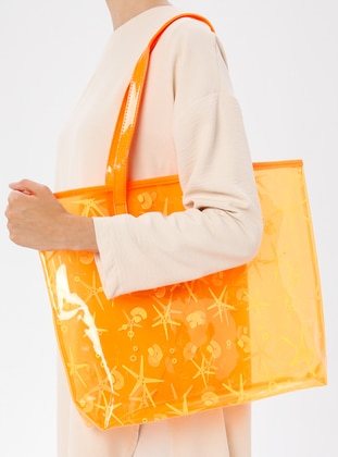 Orange - Beach Bags - İdil Çanta