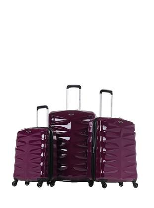 NK 3`lü Bavul Seti - Mor