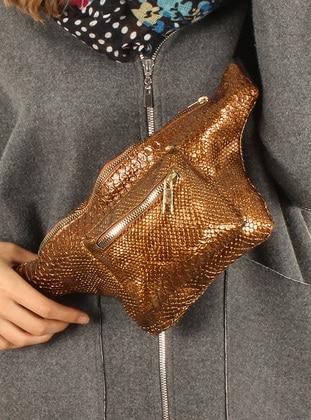 Brown - Clutch - Bum Bag - Luwwe