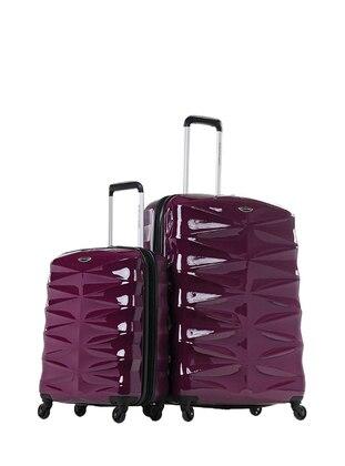 NK Büyük&Kabin Boy Bavul Seti - Mor