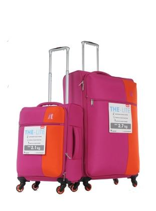 ITLUGGAGE Büyük&Kabin Boy Bavul Seti - Pembe