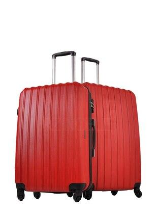 Ground Büyük&Orta Boy Bavul Seti - Kırmızı