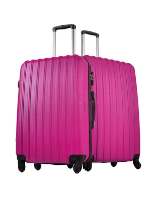 Ground Büyük&Orta Boy Bavul Seti - Pembe