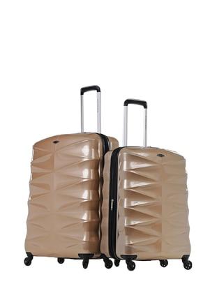 NK Büyük&Orta Boy Bavul Seti - Altın