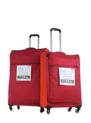 ITLUGGAGE Büyük&Orta Boy Bavul Seti - Bordo