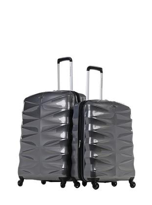NK Büyük&Orta Boy Bavul Seti - Gri