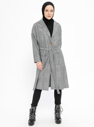 Black - Multi - Unlined - Shawl Collar - Topcoat