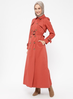 Coral - Fully Lined - Point Collar - Topcoat