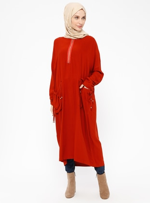 Terra Cotta - Crew neck - Viscose - Tunic
