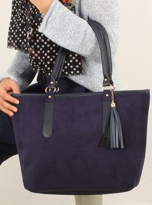 Navy Blue - Shoulder Bags - Luwwe