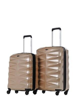 NK Orta&Kabin Boy Bavul Seti - Altın