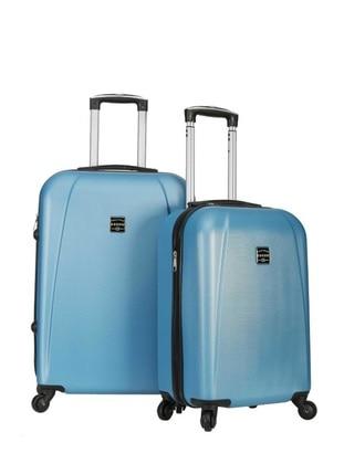 Orta&Kabin Boy Bavul Seti - Mavi - Fossil Ürün Resmi