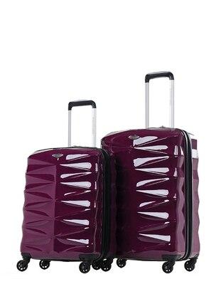 NK Orta&Kabin Boy Bavul Seti - Mor