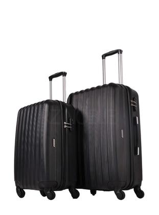 Ground Orta&Kabin Boy Bavul Seti - Siyah