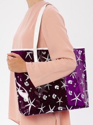 Purple - Beach Bags - İdil Çanta