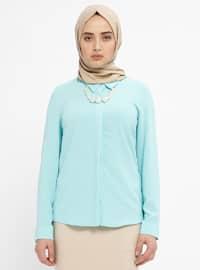 Mint - Point Collar - Blouses