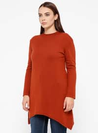 Terra Cotta - Crew neck -  - Plus Size Jumper