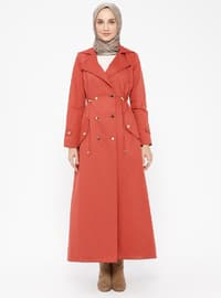 Coral - Fully Lined - Shawl Collar - Cotton - Topcoat