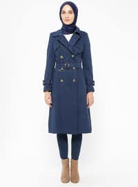 Blue - Navy Blue - Indigo - Fully Lined - Point Collar - Topcoat
