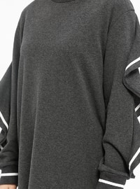 Crew neck - Smoke-coloured - Sweat-shirt