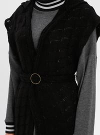 Black - Unlined - Acrylic -  - Vest