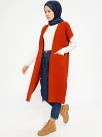 Tan - Unlined - Acrylic -  - Vest