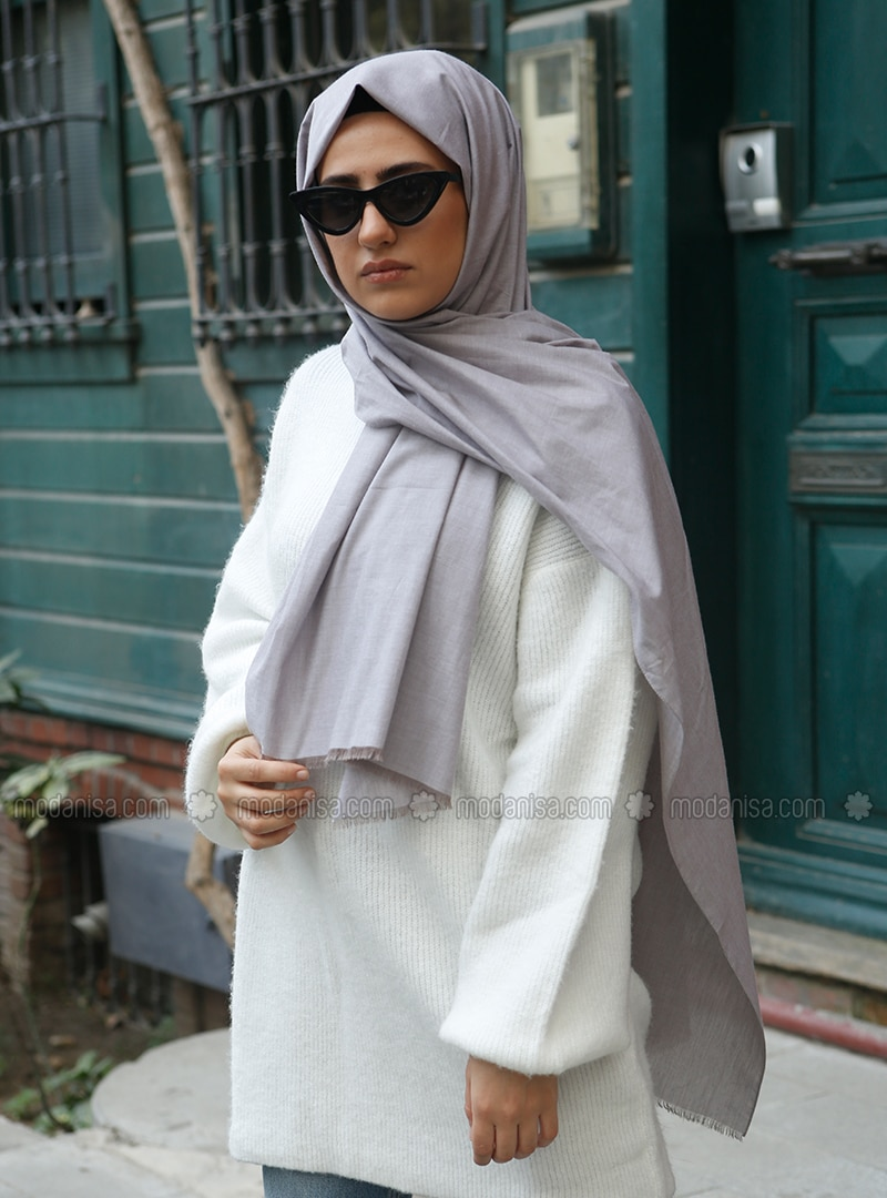 Minc - Plain - Cotton - Shawl -  Eşarp