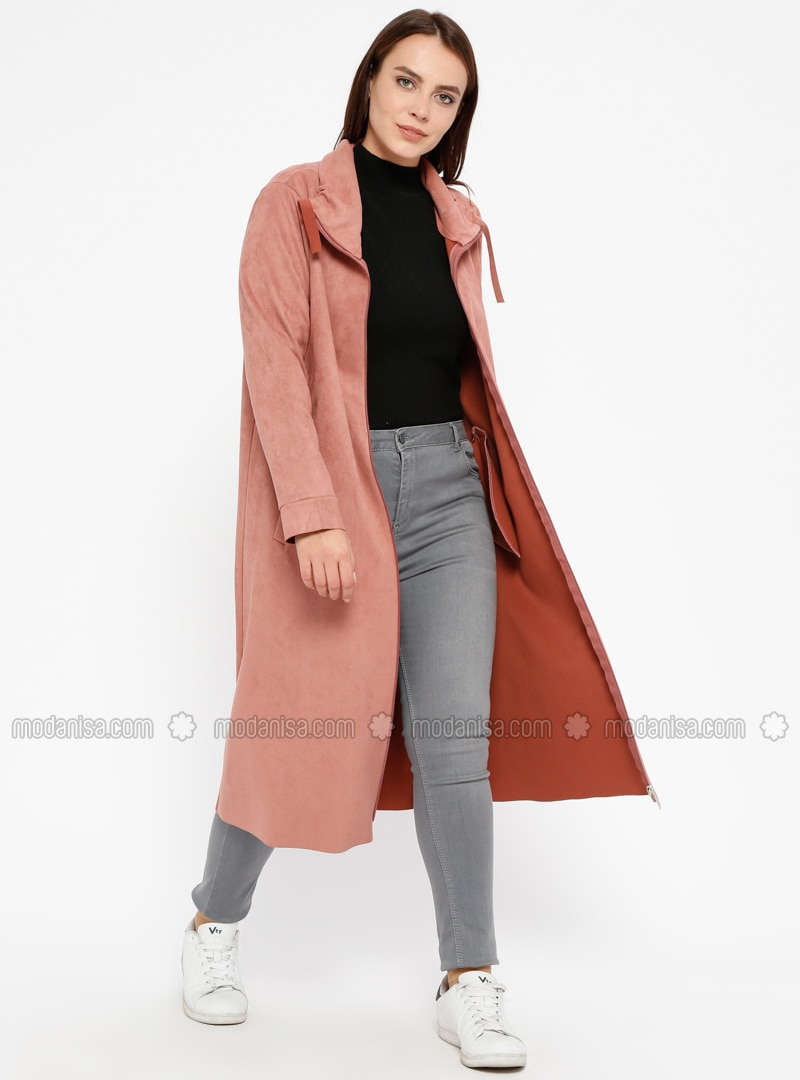 Powder - Unlined - Point Collar - Plus Size Coat